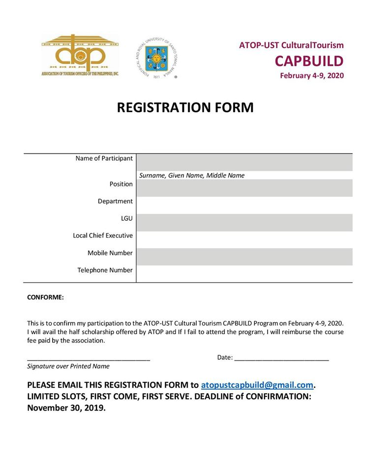 ATOP registration form