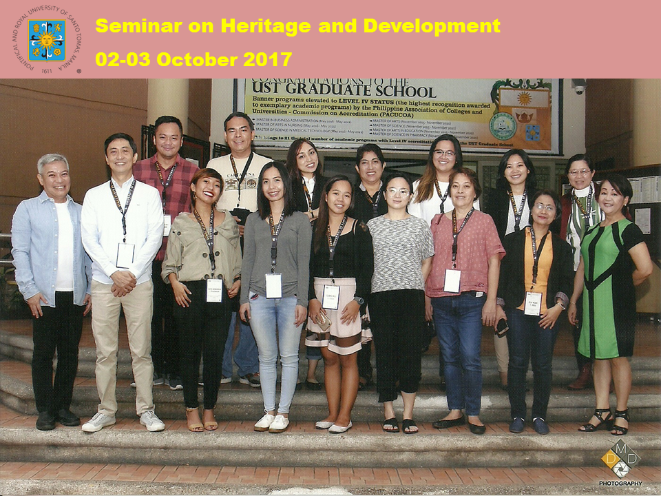 GROUP PIC - Heritage and Development Seminar