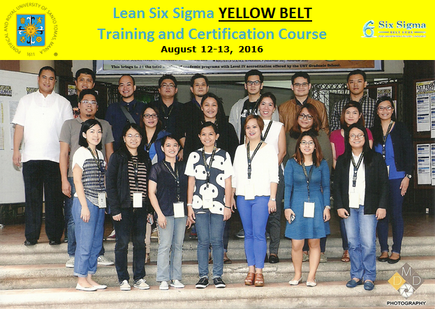 GROUP PIC - LSS Yellow Belt August 2016