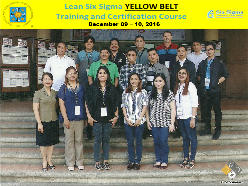 GROUP PIC - Lean Six Sigma Yellow Belt Training and Certification Courese Dec 09 and 10 2016