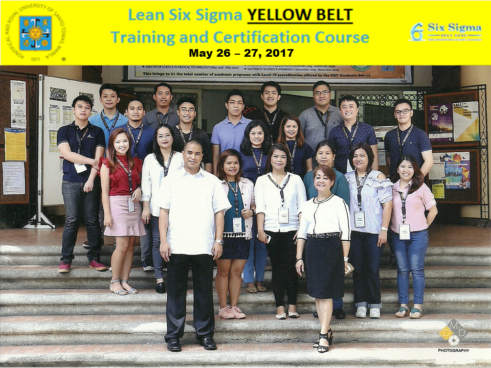 GROUP PIC - Lean Six Sigma Yellow Belt Training and Certification Course May 26 and 27 2017