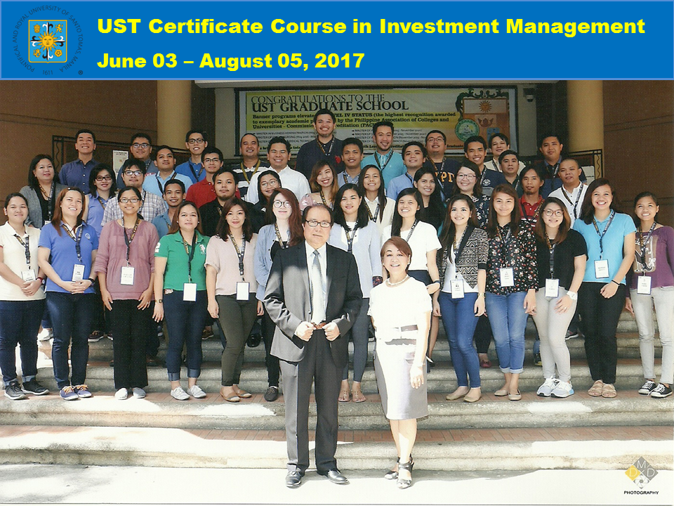 GROUP PIC - UST Certificate Course in Investment Management June to August 2017