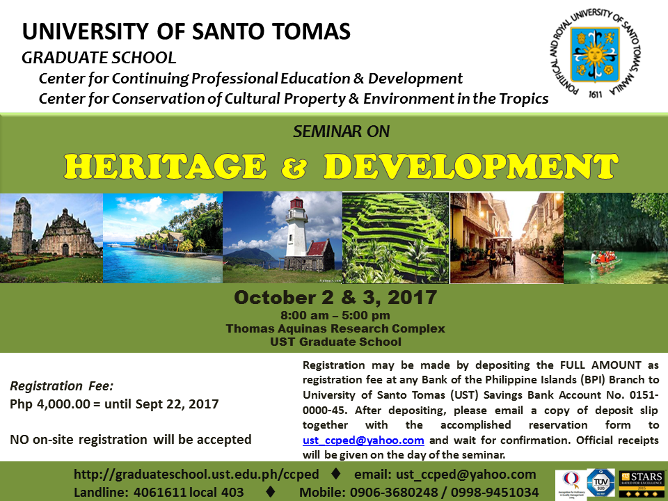 POSTER FORMAT - Heritage and Development Oct 2017