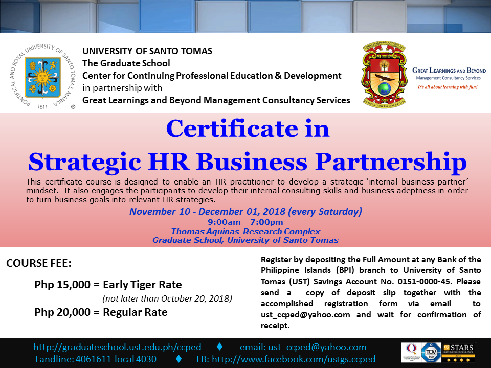 POSTER - GLB_Certificate in Strategic HR Business Partnership_08082018