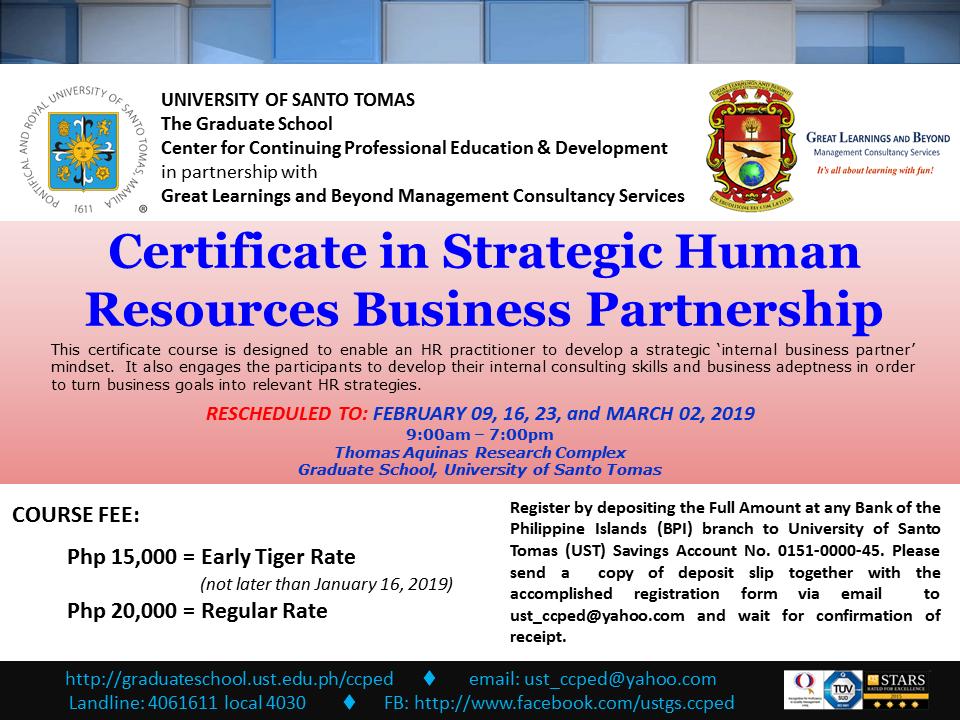 POSTER - GLB_Certificate in Strategic HR Business Partnership_09Feb2019