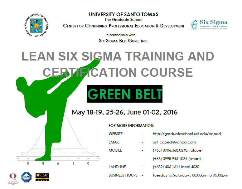 POSTER - Green Belt May - June 2016