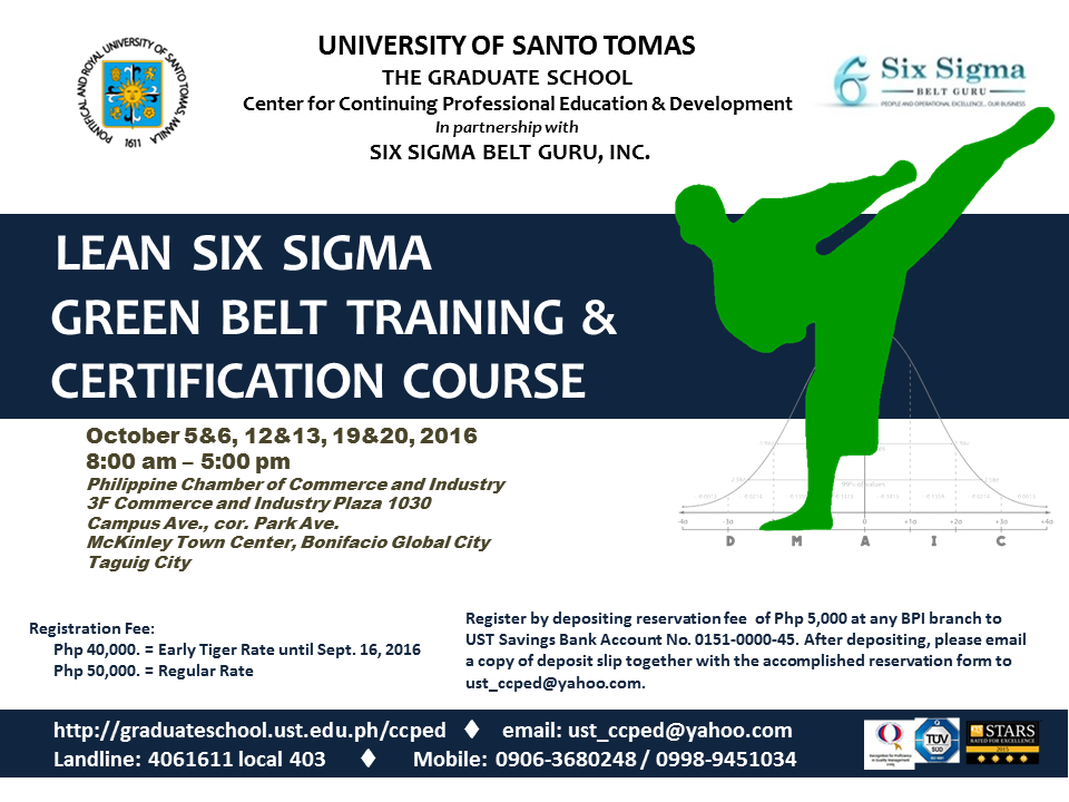 POSTER - LSS Green Belt Training