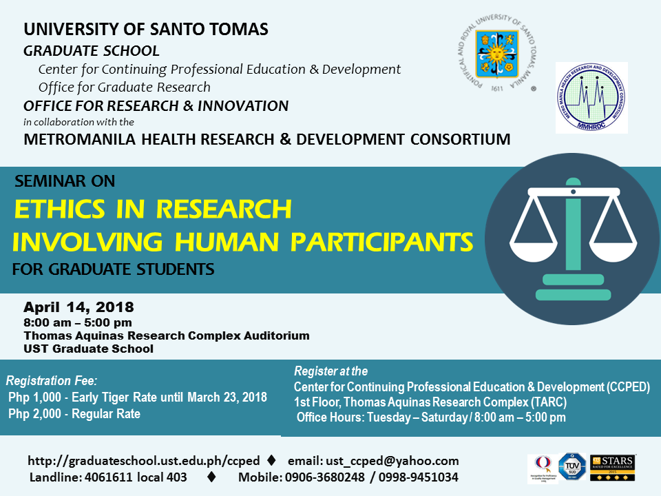 POSTER - Seminar on Research Ethics April 2018