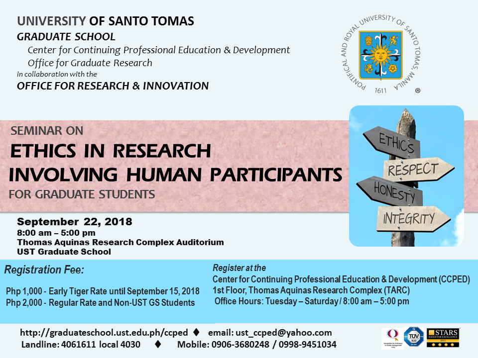 POSTER - Seminar on Research Ethics September 2018