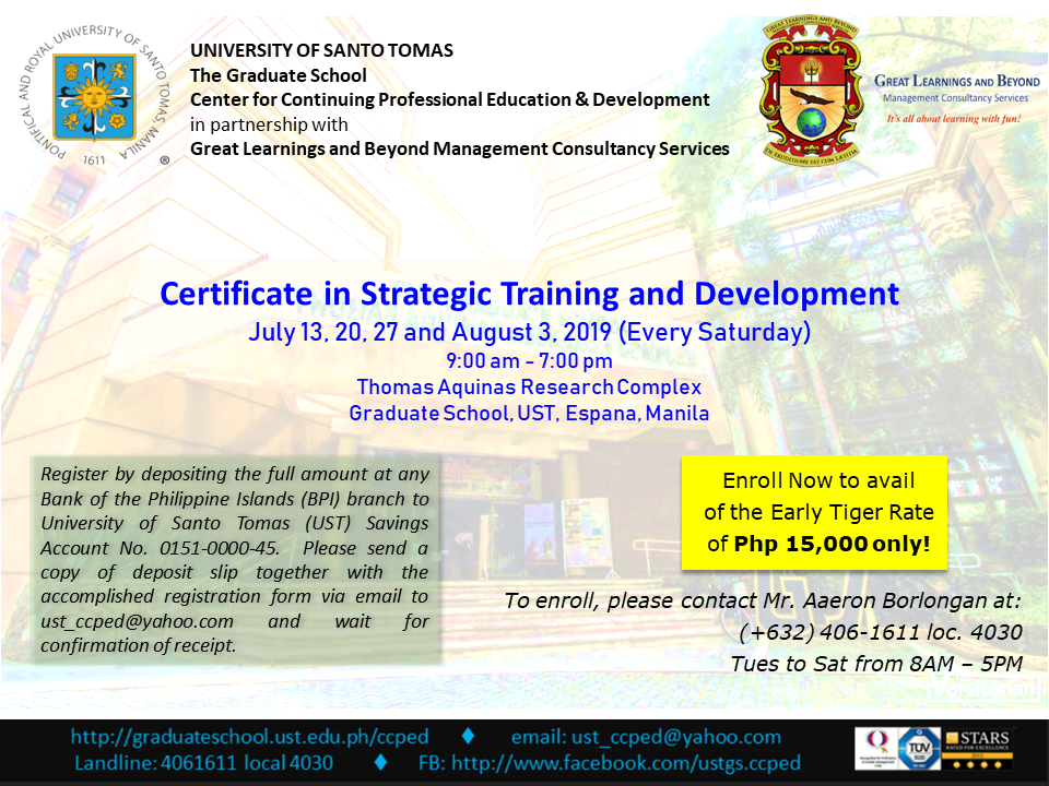 UST CCPED & GLB Certificate Courses_Strat Training 2019